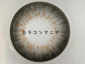 ラブマークレンズ/ララ(ブラック)のレンズ表面/デザインやカラー