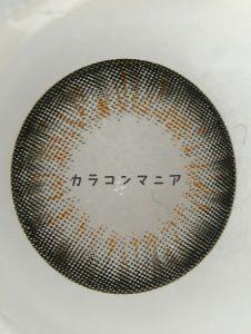 ラブマークレンズ/ララ(ブラック)の裏面/大きさや着色直径
