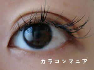 カラコン装着前の目