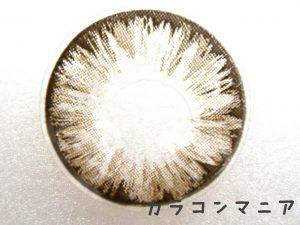ロデオ ヴォヤージュ タヒチ(チョコ)のレンズ表面/着色直径