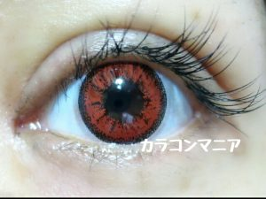 ヴァンパイア・ドラキュラ・吸血鬼用カラコン/ジーニーガールズ マーブル(レッド)の発色/赤い目になれる