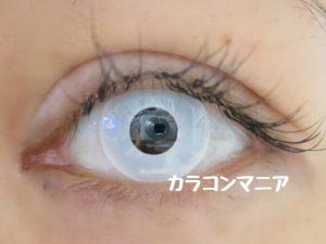ハロウィン・コスプレ用白カラコン/ジーニーガールズ (マットホワイト)の口コミ画像
