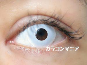ハロウィン・コスプレ用白カラコン/ジーニーガールズ (マットホワイト)の発色