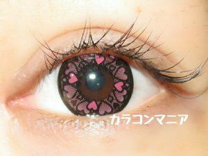 ハートカラコン/セシル ドキドキ(ピンク)のレポ画像