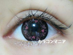ハートカラコン/セシル ドキドキ(ピンク)の口コミ画像