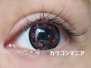 ハートカラコン/セシル ドキドキ(ピンク)の装着画像
