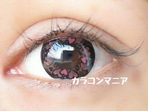 ハートカラコン/セシル ドキドキ(ピンク)は高発色
