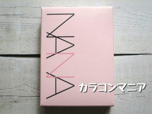 カラコンNANA(ブラウン02)の箱・パッケージ
