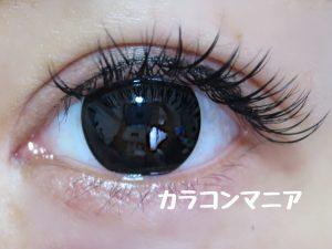 カラコンNANA(ブラック00)/ヴィヴィアンVIVIANユナブラックの口コミ画像/室内での見え方